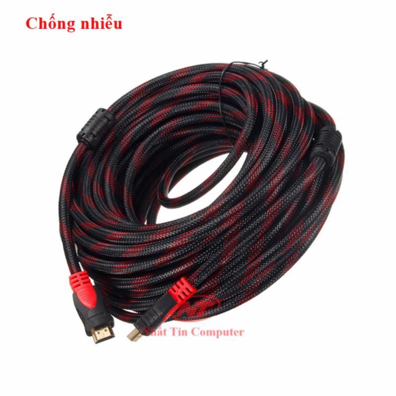 Bảng giá Cáp tín hiệu HDMI chống nhiễu dài 20m VS - loại tròn dày (đen) Phong Vũ