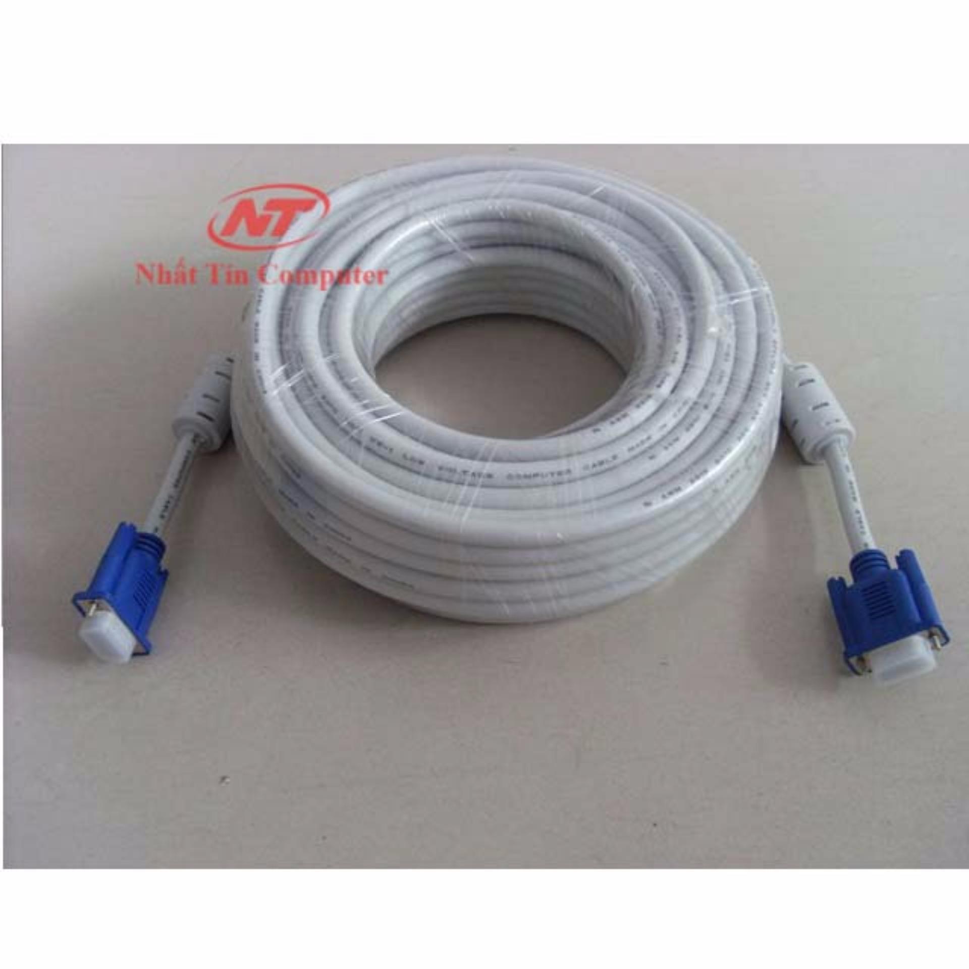 Cáp tín hiệu VGA đầu chống nhiễu 10m VS – loại dày (trắng)