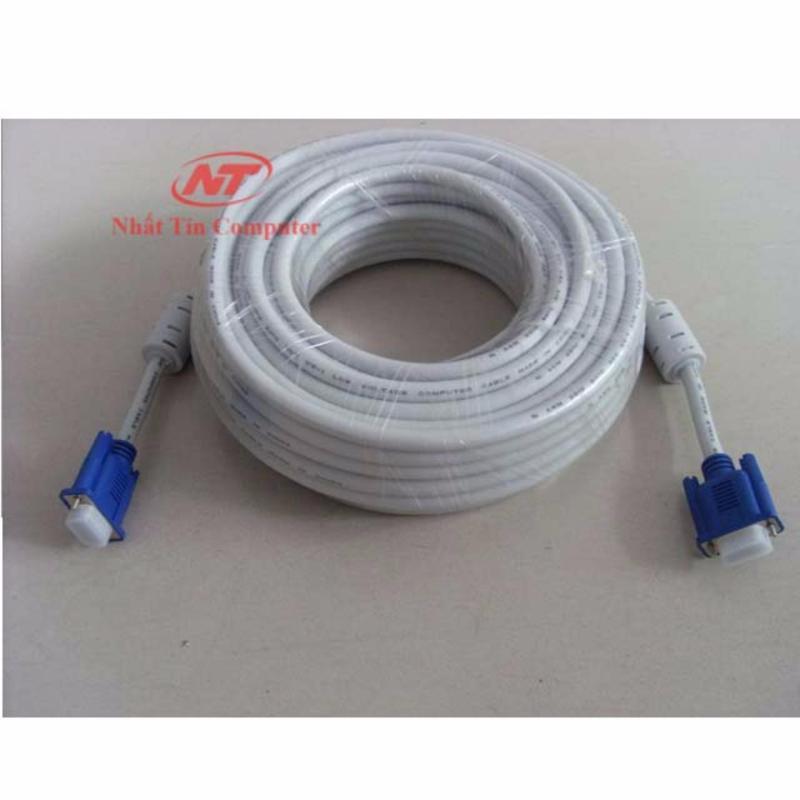 Cáp tín hiệu VGA đầu chống nhiễu 10m VS - loại dày (trắng)