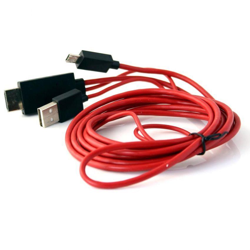 Cáp xuất HDMI ra TV cho thiết bị Android (Đỏ)