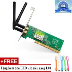Card mạng không dây TP-Link TL-WN851ND 300Mbps + Tặng đèn LED usb mã L01