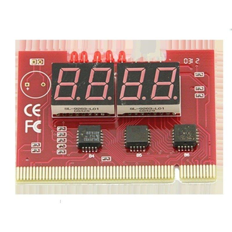 Bảng giá Card test Mainboard 4 số dùng cho main có khe cắm PCI (Đỏ) Phong Vũ
