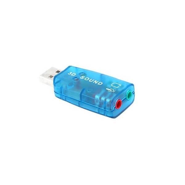 Card USB 3D Sound 5.1