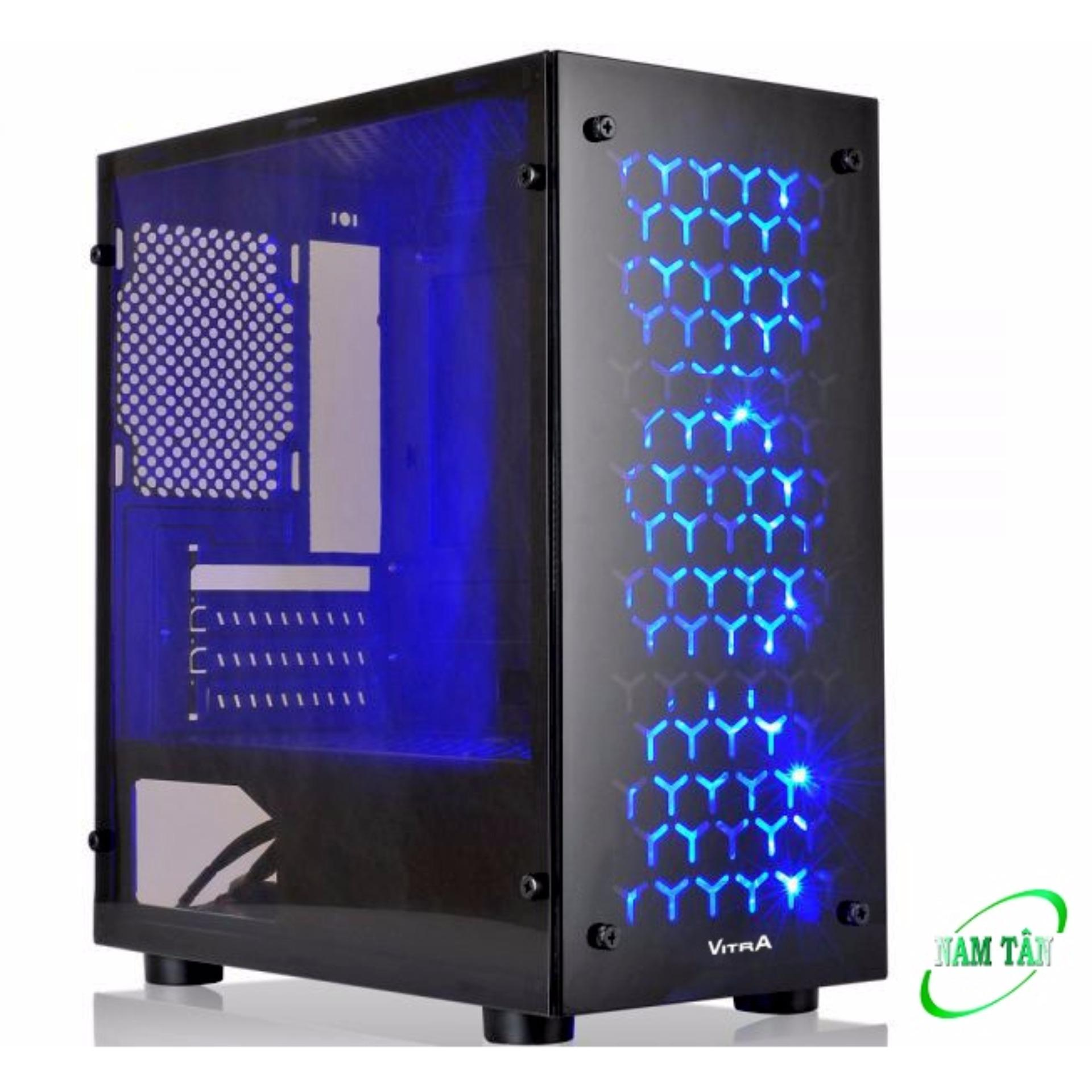 Vỏ Case Gaming Vitra Victoria V4 M-ATX + 1Fan LED