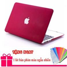 Case Ốp đỏ bordeaux cho Macbook Pro 13,3 2016/17 (Có touch bar)+ Tặng lót phím
