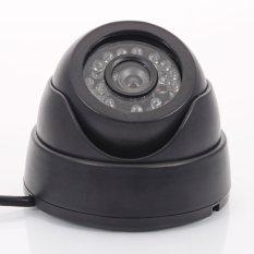 CAMERA QUAN SÁT 1200TVL video 24 IR LED 3.6 mét Ống Kính Ban Đêm có dây Dome (Đen) (Quốc Tế)