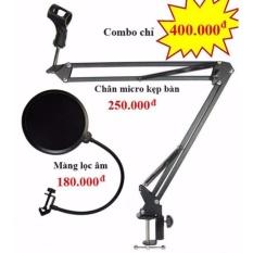 Chân đế micro kẹp bàn Standard NB-35 kèm màng lọc âm kinglight