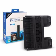 Chân đế quạt tản nhiệt + sạc tay cầm 3 in 1 cho PS4 ,PS4 Slim và Ps4 Pro