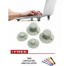 Chân đế tản nhiệt hiệu quả cho laptop ( xám) + Tặng 1 đèn led siêu sáng