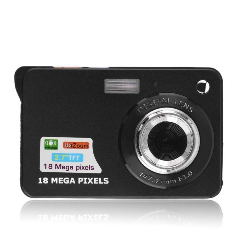 "CHEER K09 2.7"" Display Screen HD 720P 18MP Digital Camcorder Camera 8X Zoom Camera Black - intl"