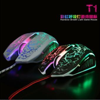 Chuột 6D chuyên Game NTC T1 Led đa màu - DPI 2400 (Trắng)