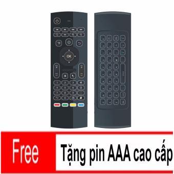 Chuột bay kiêm bàn phím Air Mouse Keyboard KM800 PRO, có đèn nền + Tặng Pin 3A cao cấp