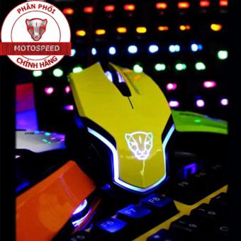 Chuột game thủ Motospeed V60 Optical Gaming Mouse (Vàng)