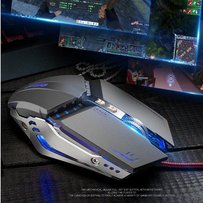 Nên mua Chuột Gaming OXE X800 LED 3200dpi Cao Cấp 7D ( Xám ) ở PHỤ KIỆN THIẾT BỊ SỐ
