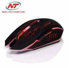 Chuột không dây dùng pin sạc Morzzor MZ-16 Led 3 màu – Phiên bản slient (Đen)