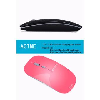 Chuột không dây sạc pin Actme T5 (Màu Xanh) - 5