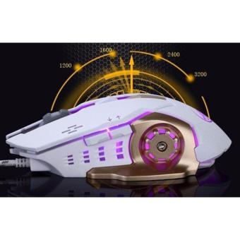 Chuột phát sáng dành cho game thủ K8 màu trắng -AL