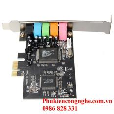 CMI8738 PCI-Express 6-Channels Digital Audio Sound Card SFF For Win 7/XP 24bit – Intl(Đen)