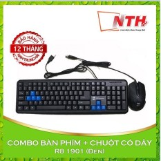 COMBO Bộ bàn phím và chuột có dây R8 1901 (Đen)
