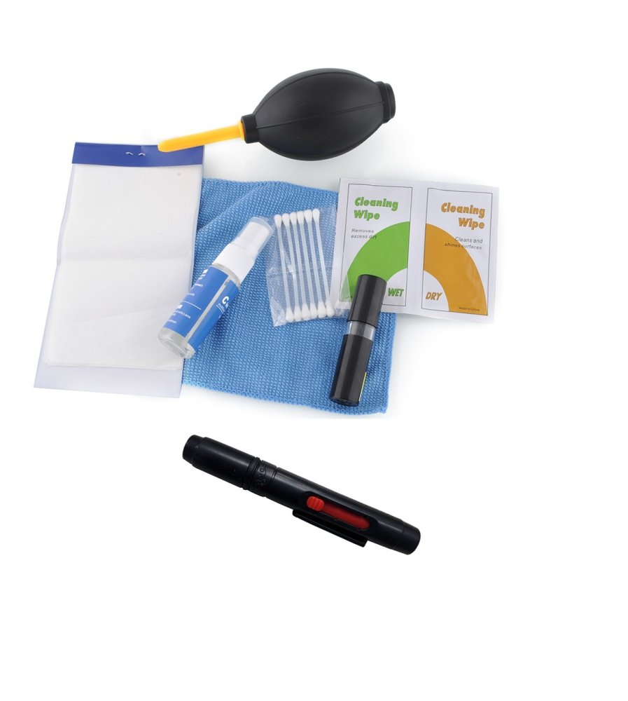 Combo bộ vệ sinh máy ảnh DSLR-Ni và bút lau ống kính (Đen)