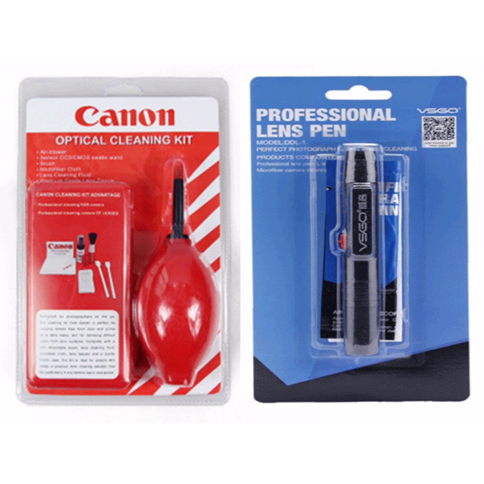 Combo Dụng Cụ Vệ Sinh Máy Ảnh Canon Và Bút Lau Ống Kính Lens Pen VSGO-DDL1