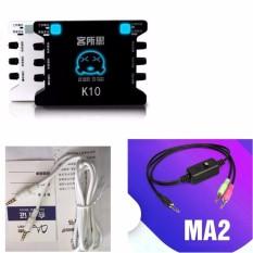 Combo Karaoke/Livestream cơ bản nhất với XOX K10 + Dây livestream XOX MA2 + Tặng kèm dây lấy nhạc 4 khấc 2 đầu 3.5mm (Cực hiếm trên thị trường)