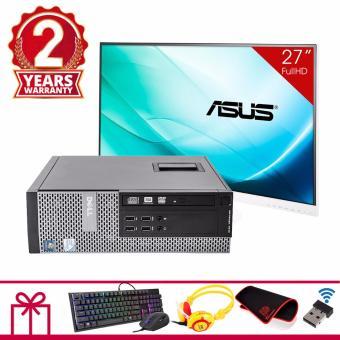 Combo Máy tính để bàn DELL OPTIPLEX 7010 SFF + Màn hình Asus 27inch Full Viền (Core I3 3220, Ram 8GB, HDD 3TB) + Quà Tặng - Hàng Nhập Khẩu