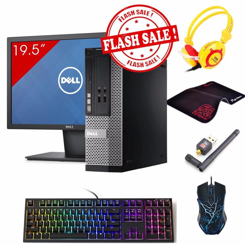 Hình ảnh Combo Máy tính Văn Phòng DELL OPTIPLEX 390 SFF + Màn hình Dell 19.5inch (Core i7 2600, Ram 8GB, HDD 1TB) + Quà Tặng - Hàng Nhập Khẩu