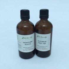 Combo PG (Propylene Glycol), VG (Glycerin thực vật), 100ml, dùng trong mỹ phẩm, thực phẩm, dược phẩm, thuốc lá, giảm giá