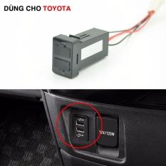 Cổng 2 sạc USB bảng điều khiển dùng riêng cho các xe Toyota Đang Bán Tại phụ kiện ô tô