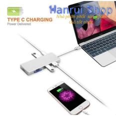 Cổng chia Type C cho Macbook 7 in 1 HDMI 4K