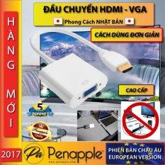 CỔNG CHUYỂN ĐỔI HDMI – VGA ADAPTER – CHẤT LIỆU GỌN NHẸ 100% AN TOÀN (Màu Trắng) – sản xuất tại Hồng Kông