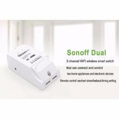 Công tắc wifi 2 kênh thông minh điều khiển từ xa qua wifi SONOFF Dual