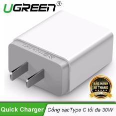 Củ sạc nhanh cổng USB type C chân cắm kiểu USA UGREEN CD127 20760 – Hãng phân phối chính thức