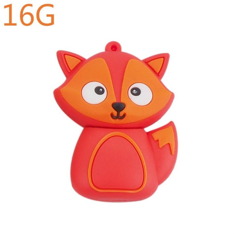 Bảng giá Cute Penguin Owl Fox Pen Drive Cartoon USB Flash Drive Pendrive 4GB/8GB/16GB/32GB/64GB U Disk Animal Memory Stick (Orange / 16G) - intl Phong Vũ
