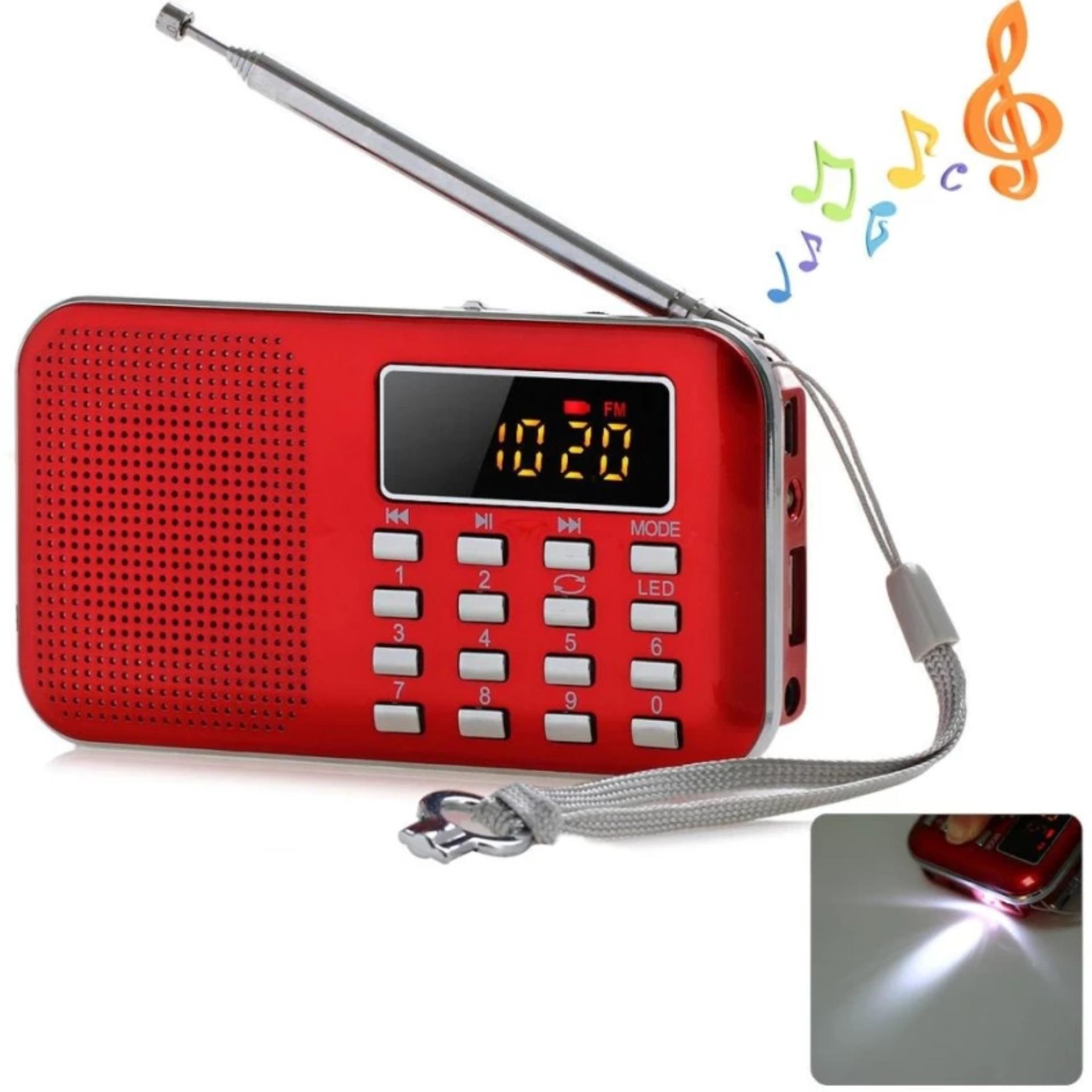 Giá Đài FM Radio Speaker USB,Mp3 Music Player có đèn led