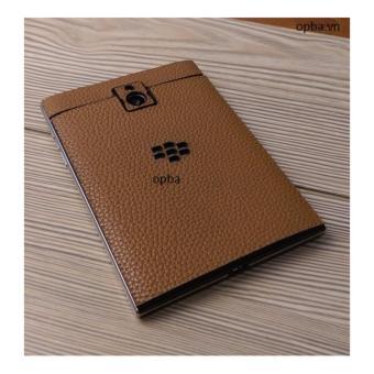 Dán Da IONE Blackberry Passport 100% Da Bò Màu Vàng Bò Hành 1 Năm - 2