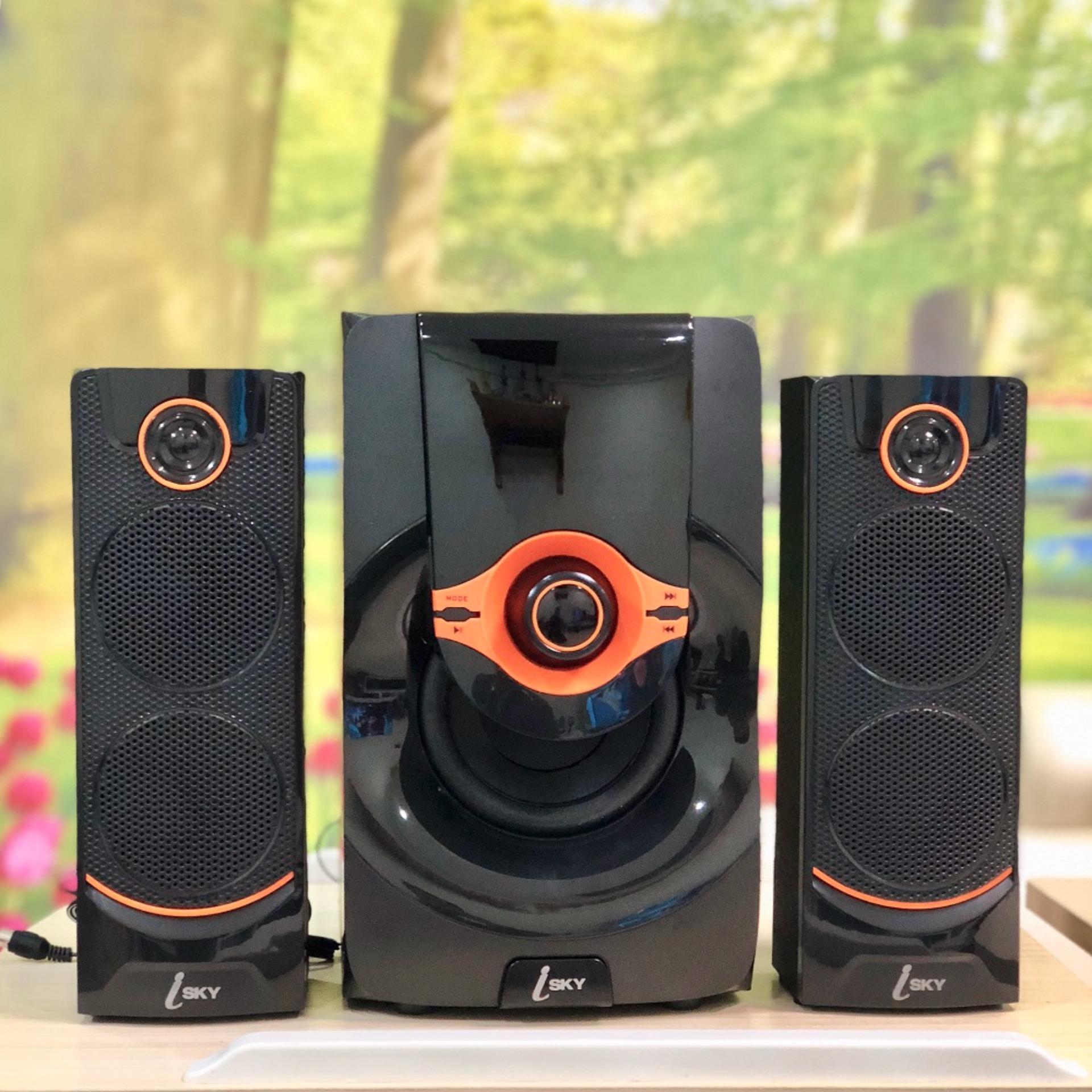 Dàn loa vi tính âm thanh lớn nghe nhạc đa năng có kết nối Bluetooth USB Isky – SK215