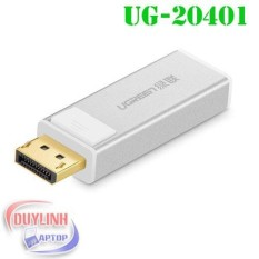 Đầu chuyển DisplayPort sang HDMI chính hãng UGREEN 20401 (Bạc)