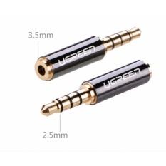Đầu chuyển đổi Audio 2.5mm sang 3.5mm mạ vàng 24K Ugreen 20501 (Đen)