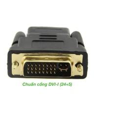 Đầu chuyển đổi DVI-I (24+5) đực sang HDMI cái (DH02)