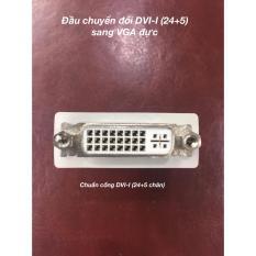 Đầu chuyển đổi DVI-I cái sang VGA đực (DV02) màu trắng