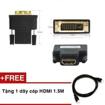 Đầu chuyển DVI (24+1) sang HDMI + Tặng kèm cáp HDMI 1.5M - 10264325 , NO007ELAA1XJ1FVNAMZ-3278580 , 224_NO007ELAA1XJ1FVNAMZ-3278580 , 159000 , Dau-chuyen-DVI-241-sang-HDMI-Tang-kem-cap-HDMI-1.5M-224_NO007ELAA1XJ1FVNAMZ-3278580 , lazada.vn , Đầu chuyển DVI (24+1) sang HDMI + Tặng kèm cáp HDMI 1.5M