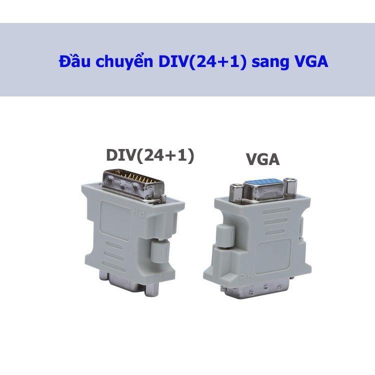 Đầu chuyển DVI sang VGA (24+1)