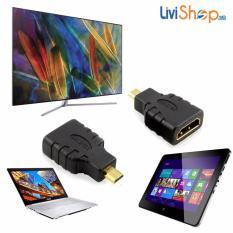 Đầu chuyển Micro HDMI (đực) sang HDMI (cái) tiêu chuẩn độ nét cao Full HD