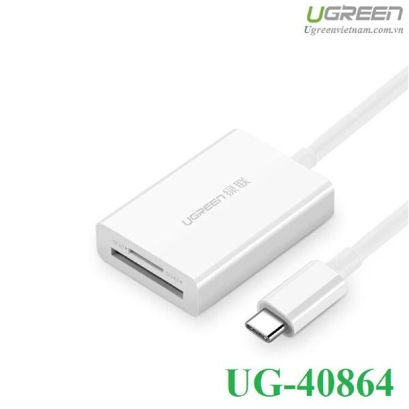 Bảng giá Đầu đọc thẻ USB Type-C cho thẻ nhớ TF/SD 4.0 Ugreen 40864 cao cấp Phong Vũ
