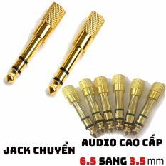Đầu jack chuyển đổi âm thanh từ cổng 6.5 xuất sang 3.5 mm ( Cao cấp )