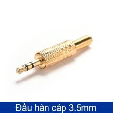 Đầu jack hàn cáp âm thanh 3.5mm (vỏ kim loại)