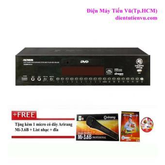 Đầu karaoke Acnos SK8888HDD B (Đen) + 1 Micro Arirang và đĩa karaoke