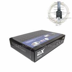 Đầu kỹ thuật số dvb t2 Tele T201S + bộ anten nhôm kèm 15 mét dây